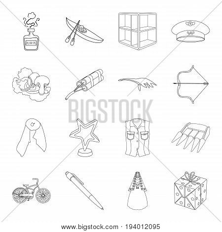 celebration, medicine, cinema and other  icon in outline style.sport, service, circus icons in set collection.