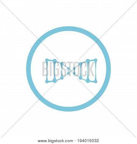 Dna Blue Round Icon
