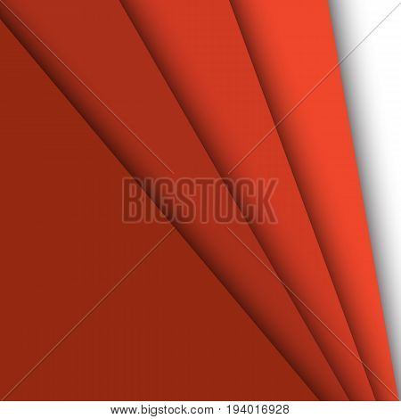 Red paper overlapping abstract background, stock vector