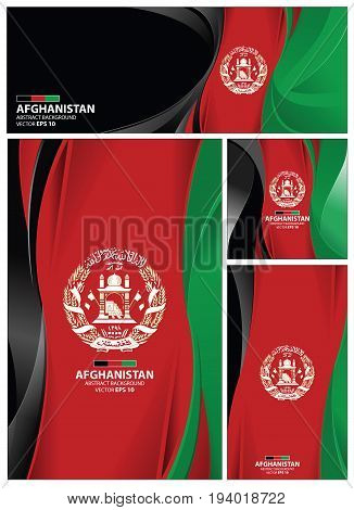 Afghanistan flag abstract colors background. Collection banner design. brochure vector illustration.