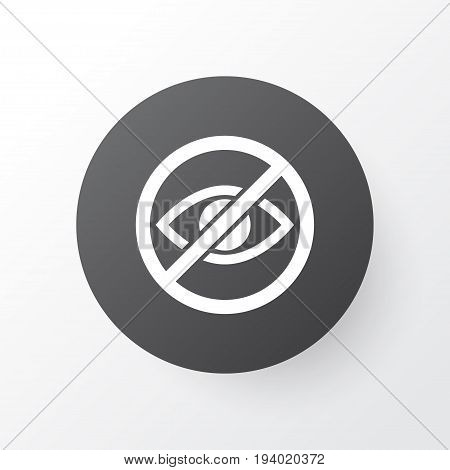 Lower Your Eyes Icon Symbol. Premium Quality Isolated Prohibited Element In Trendy Style.