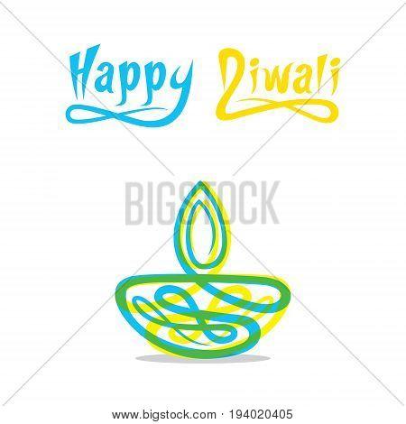 creative diwali greeting design abstract shape diya