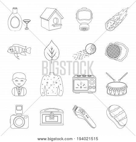 sport, medicine, alcohol and other  icon in outline style.maintenance, space, plumbing icons in set collection.
