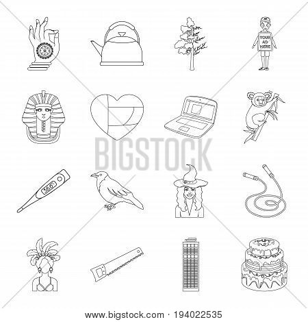 sports, building, medicine and other  icon in outline style.history, cooking, religion icons in set collection.
