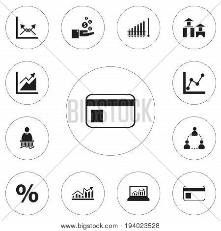 Set Of 12 Editable Statistic Icons. Includes Symbols Such As Transmission, Profit, Laptop Statistics And More. Can Be Used For Web, Mobile, UI And Infographic Design.