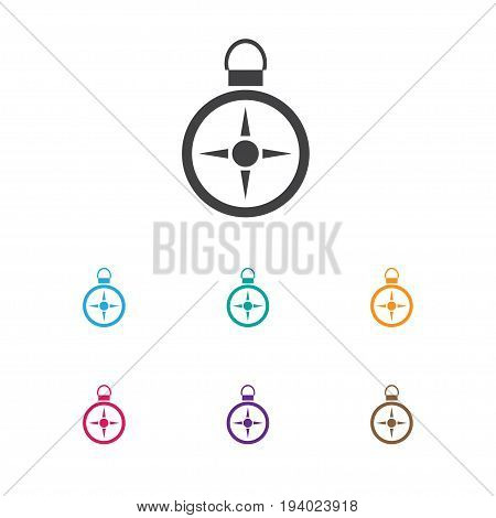 Vector Illustration Of Trip Symbol On Direction Icon. Premium Quality Isolated Orientation Element In Trendy Flat Style.