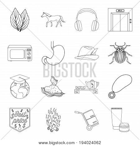 finance, medicine, cooking and other  icon in outline style.hunting, tradition, cosmetics icons in set collection.