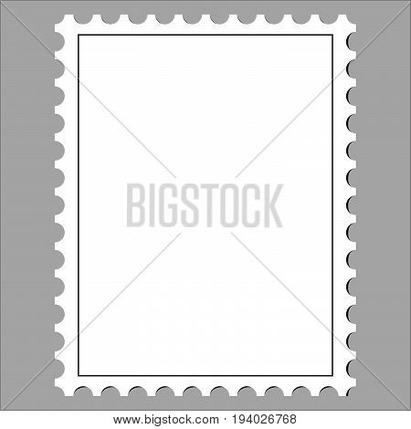 clean postage stamp template icon on white background vector illustration