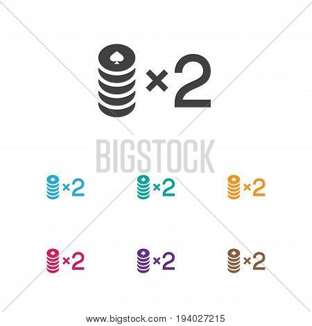 Vector Illustration Of Business Symbol On Bet Icon. Premium Quality Isolated Wager Element In Trendy Flat Style.