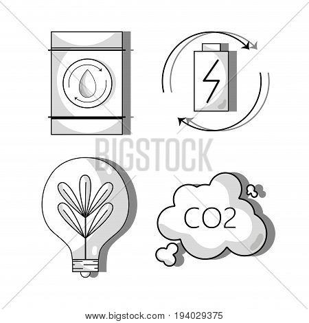 set ecology conservation and environment care concept vector illustration