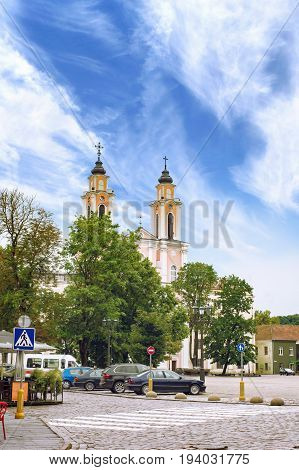 Church of St. Francis Xavier is located in the Old Town of Kaunas Lithuania. The church dedicated to St. Francis Xavier was built at the Town Hall Square in the Old Town of Kaunas by Jesuits.