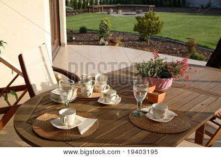 Patio and table