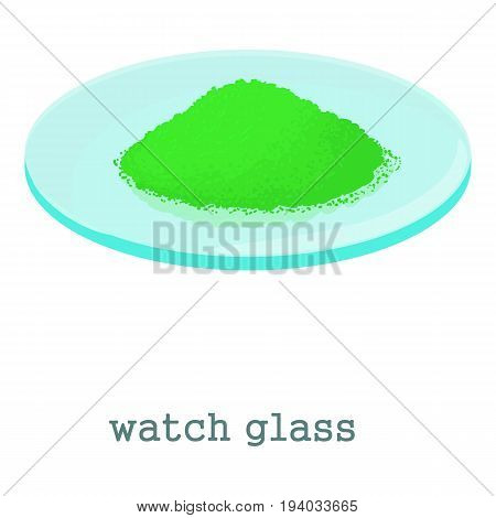 Watch glass icon. Cartoon illustration of watch glass vector icon for web isolated on white background