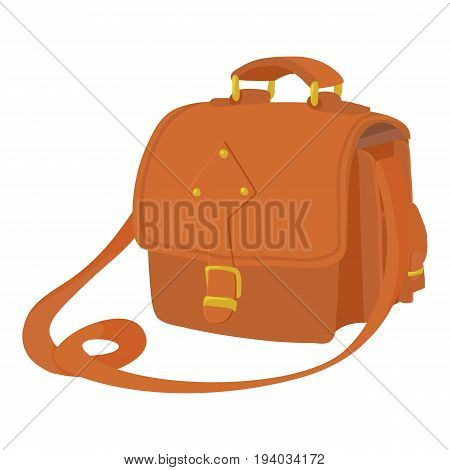 Postal bag icon. Cartoon illustration of postal bag vector icon for web isolated on white background