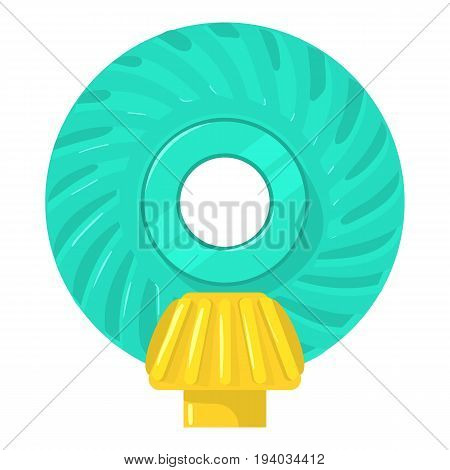 Main gear icon. Cartoon illustration of main gear vector icon for web isolated on white background