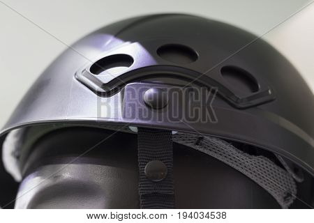 Blanck Turquoise with black Safety helmet ; Working Hard Hat;Personal Protection Equipment PPE;selective focus