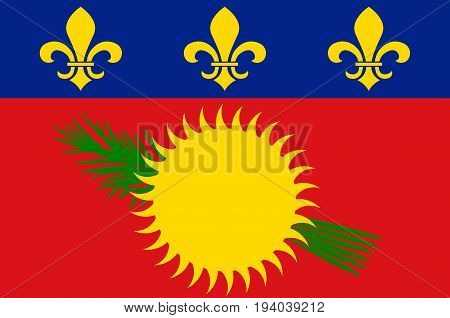 Flag of Guadeloupe is an insular region of France located in the Leeward Islands part of the Lesser Antilles in the Caribbean