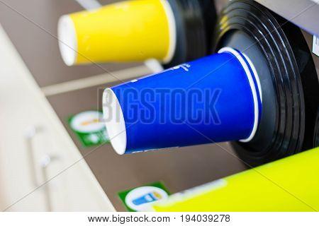 Plastic Glass In Storage Cylinder Under Cooler Machine