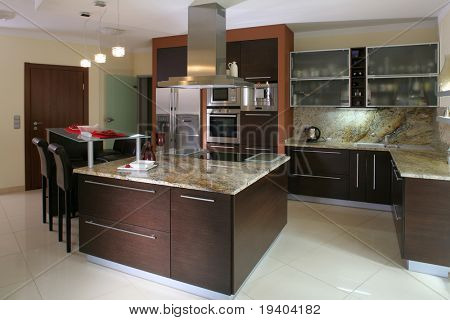 View of a modern kitchen