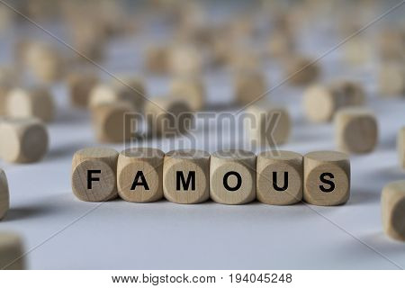 Famous - Cube With Letters, Sign With Wooden Cubes