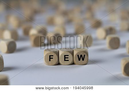 Few - Cube With Letters, Sign With Wooden Cubes