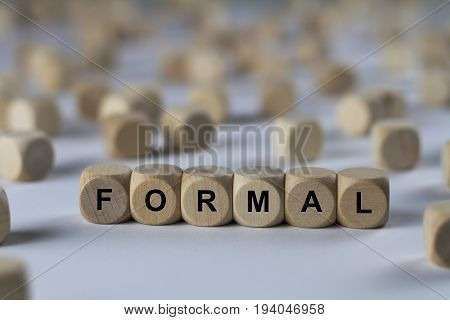Formal - Cube With Letters, Sign With Wooden Cubes