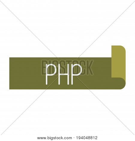 colorful silhouette label text of php vector illustration
