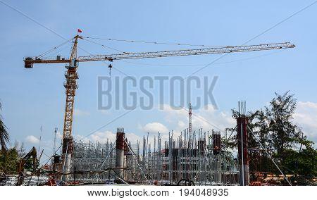 Construction Site In Phu Quoc, Vietnam