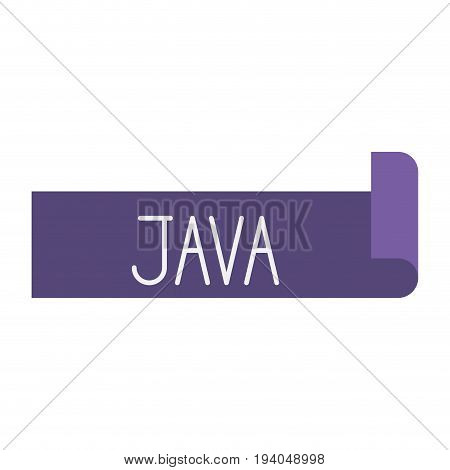 colorful silhouette of label text Java vector illustration
