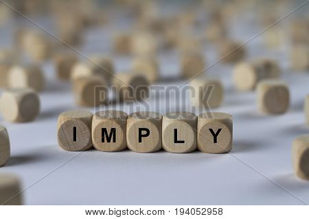 Imply - Cube With Letters, Sign With Wooden Cubes