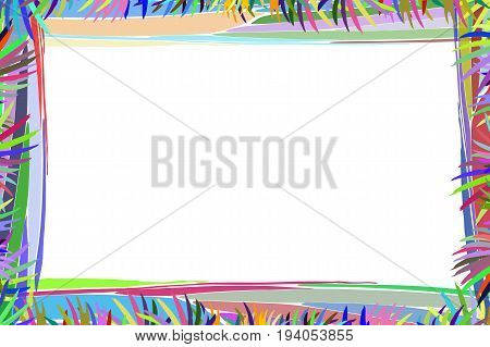 Photo frame summer. Vector illustration for your design. Mosaic elements multicolored abstract elements. Horizontal sheet orientation