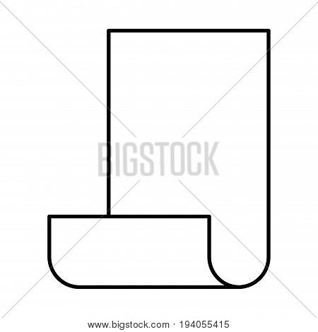 monochrome silhouette of continuously sheet vector illustration