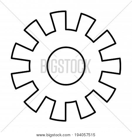 monochrome silhouette of pinions model one vector illustration