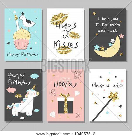 Unicorn Cards Set-03.eps