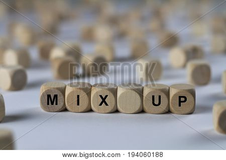 Mix Up - Cube With Letters, Sign With Wooden Cubes