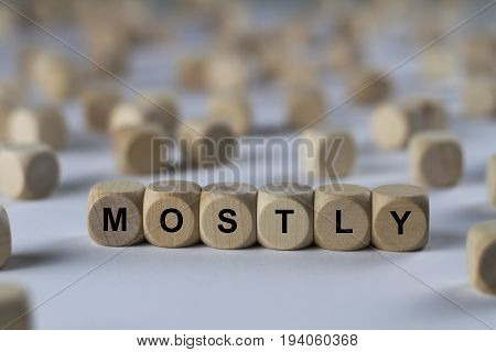 Mostly - Cube With Letters, Sign With Wooden Cubes