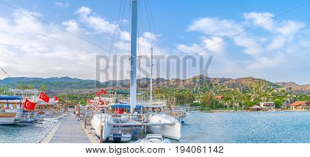 The Beautiful Catamaran In Kekova