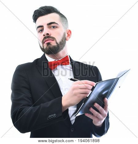 Businessman Or Lawyer With Confident Face Expression And Neat Beard