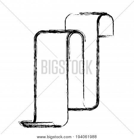 monochrome blurred silhouette of continuously long sheet vector illustration
