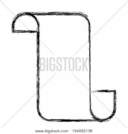 monochrome blurred silhouette of continuously paper sheet vector illustration