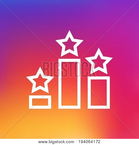 Isolated Ranking Outline Symbol On Clean Background. Vector Columns Element In Trendy Style.