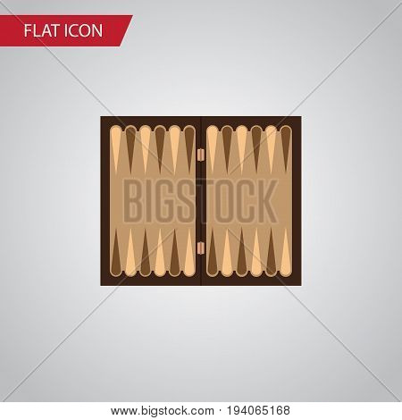 Isolated Backgammon Flat Icon. Dice Vector Element Can Be Used For Dice, Backgammon, Table Design Concept.
