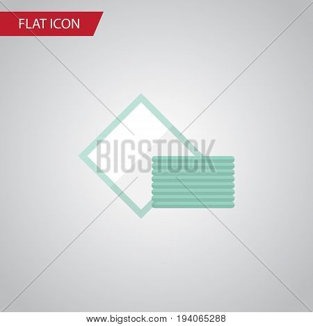 Isolated Towel Flat Icon. Napkin Vector Element Can Be Used For Napkin, Towel, Tissue Design Concept.