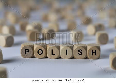 Polish - Cube With Letters, Sign With Wooden Cubes