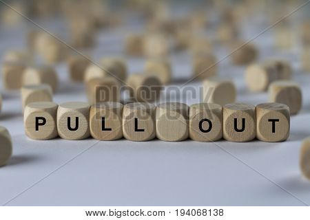Pull Out - Cube With Letters, Sign With Wooden Cubes
