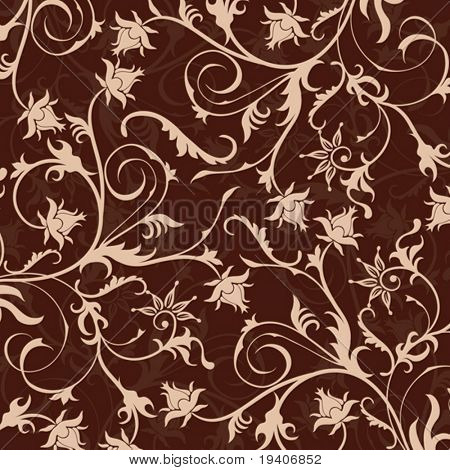 Floral pattern, vector illustration