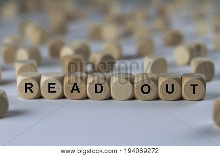Read Out - Cube With Letters, Sign With Wooden Cubes