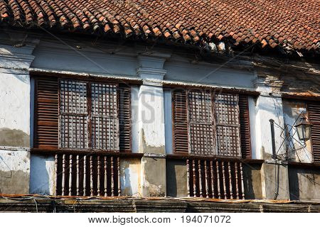 Vigan old town built by the spanish in colonial period Luzon philippines