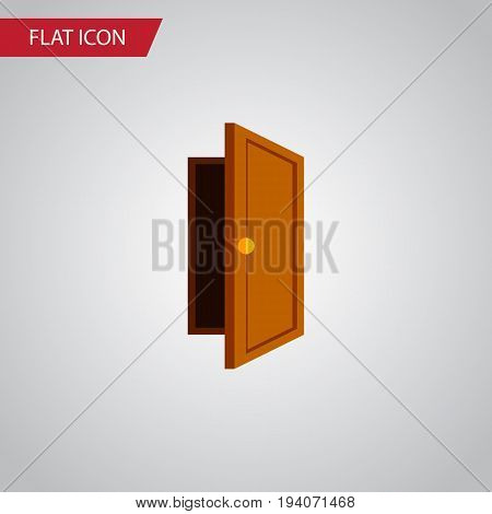 Isolated Exit Flat Icon. Entry Vector Element Can Be Used For Entry, Exit, Approach Design Concept.