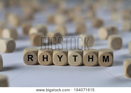 Rhythm - Cube With Letters, Sign With Wooden Cubes